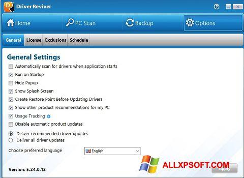 Screenshot Driver Reviver for Windows XP