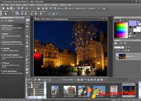 Screenshot PaintShop Pro for Windows XP