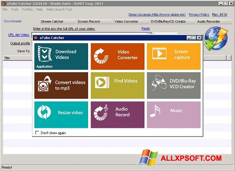 Screenshot aTube Catcher for Windows XP