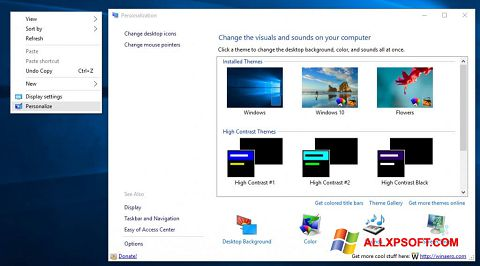 Screenshot Personalization Panel for Windows XP