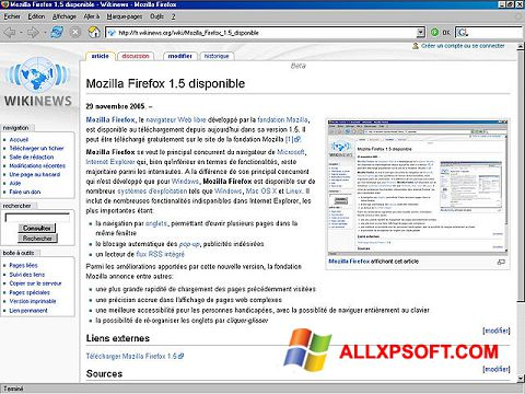 Screenshot Mozilla Firefox for Windows XP