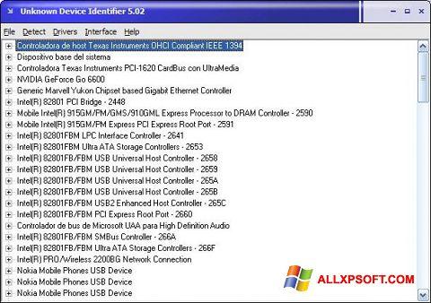 Screenshot Unknown Device Identifier for Windows XP
