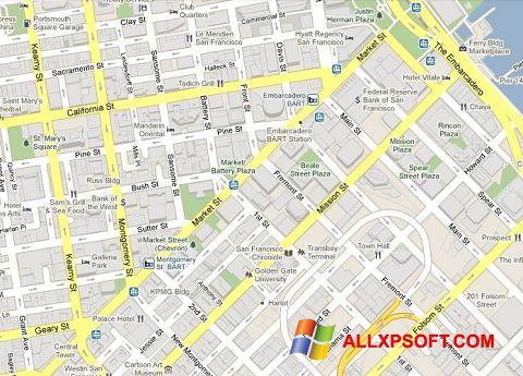 Screenshot Google Maps for Windows XP