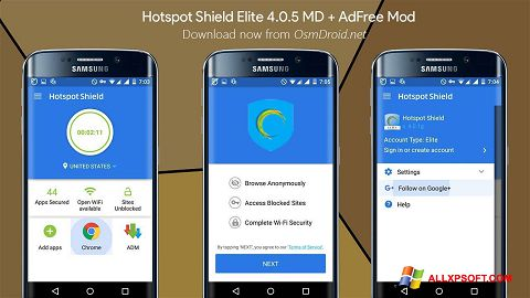 Screenshot Hotspot Shield for Windows XP