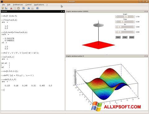 Screenshot Scilab for Windows XP