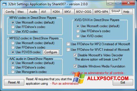 Screenshot ADVANCED Codecs for Windows XP