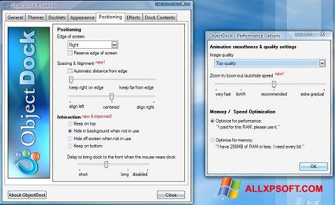 Screenshot ObjectDock for Windows XP