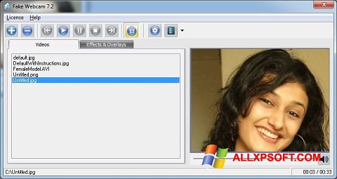 Screenshot Fake Webcam for Windows XP