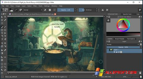 Screenshot Krita for Windows XP