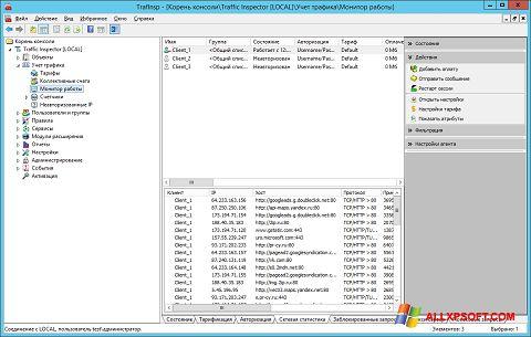 Screenshot Traffic Inspector for Windows XP