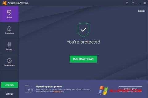 Screenshot Avast Free Antivirus for Windows XP