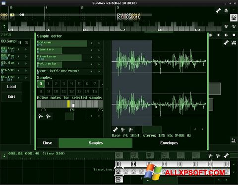 Screenshot SunVox for Windows XP