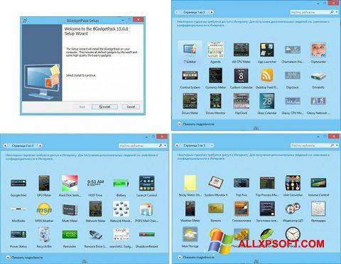 Screenshot 8GadgetPack for Windows XP