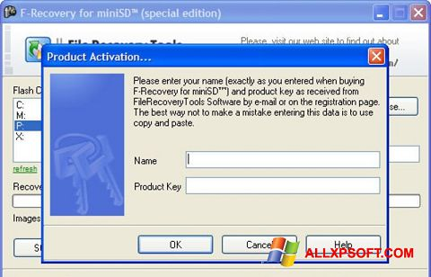 Screenshot F-Recovery SD for Windows XP