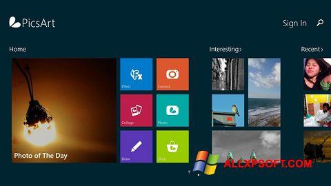 Screenshot PicsArt for Windows XP