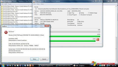 Screenshot ImgBurn for Windows XP