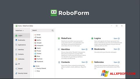 Screenshot RoboForm for Windows XP