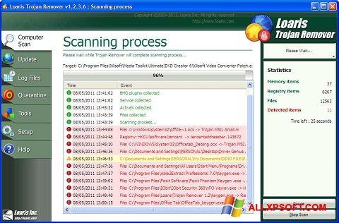 Screenshot Trojan Remover for Windows XP