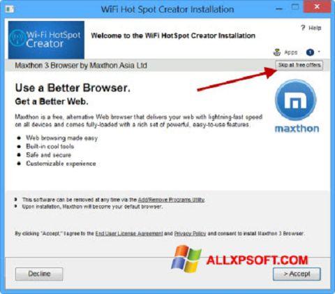 Download Wi-Fi HotSpot Creator for Windows XP (32/64 bit) in