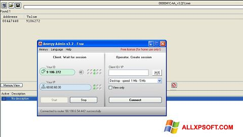 Screenshot Ammyy Admin for Windows XP
