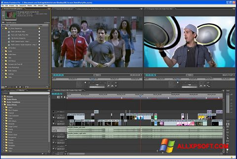Screenshot Adobe Premiere Pro for Windows XP
