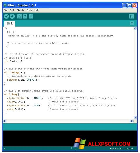 Screenshot Arduino for Windows XP
