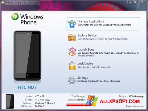 Screenshot Windows Phone Device Manager for Windows XP