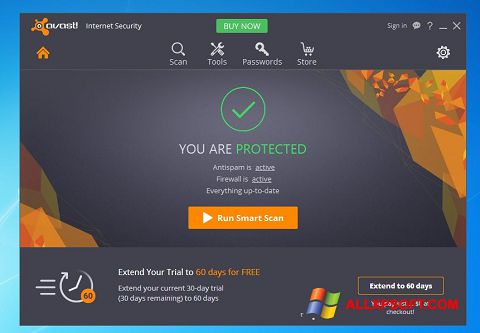 Screenshot Avast Internet Security for Windows XP