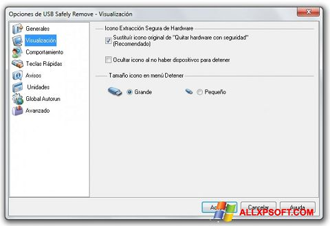 Screenshot USB Safely Remove for Windows XP