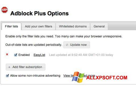 Screenshot Adblock Plus for Windows XP