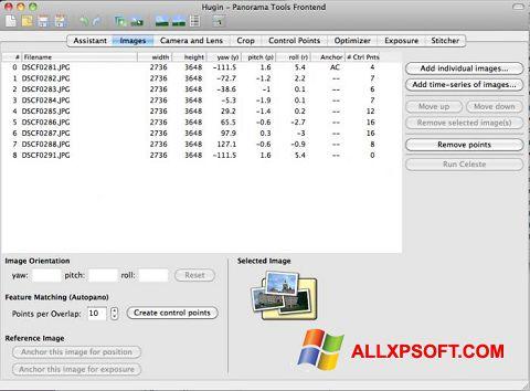 Screenshot Hugin for Windows XP