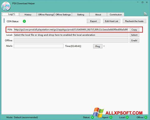 Screenshot DownloadHelper for Windows XP