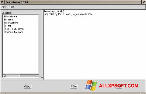 Screenshot PowerTweak for Windows XP