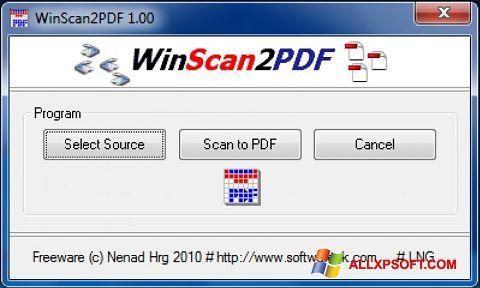 Screenshot WinScan2PDF for Windows XP