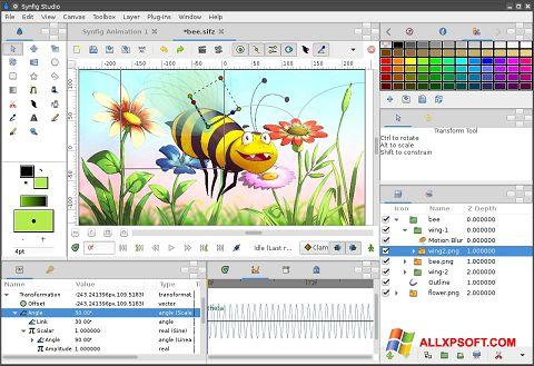 Screenshot Synfig Studio for Windows XP