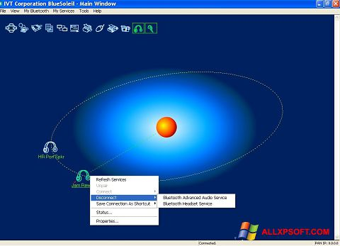 Screenshot BlueSoleil for Windows XP