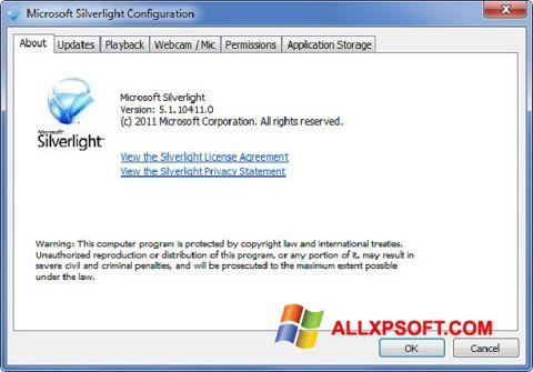 Screenshot Microsoft Silverlight for Windows XP
