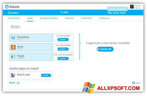 Screenshot Soluto for Windows XP