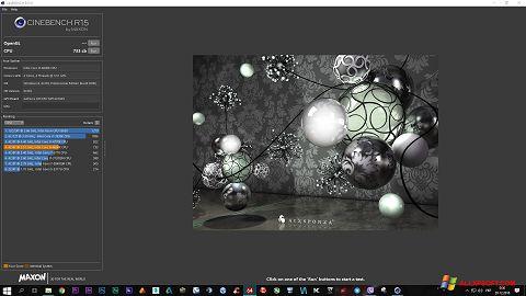 Screenshot CINEBENCH for Windows XP