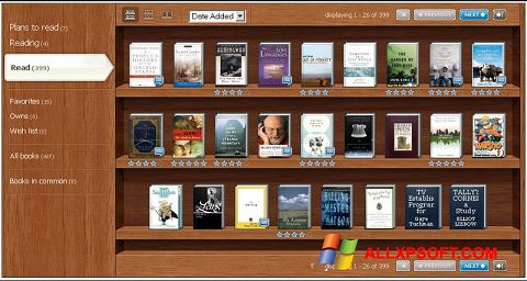 Screenshot Bookshelf For Windows XP