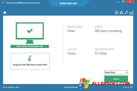 Screenshot Zemana AntiMalware for Windows XP