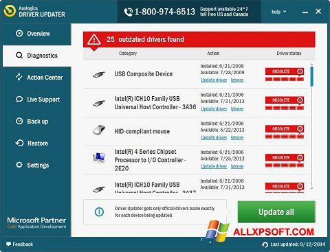 Screenshot Auslogics Driver Updater for Windows XP