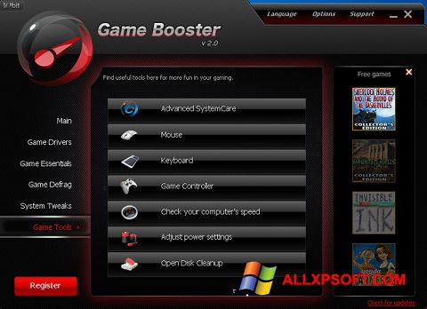 Screenshot Game Booster for Windows XP