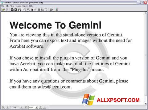 Screenshot Gemini for Windows XP