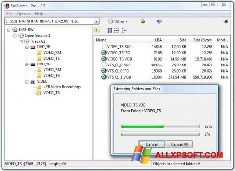 Screenshot IsoBuster for Windows XP