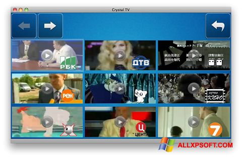 Screenshot Crystal TV for Windows XP