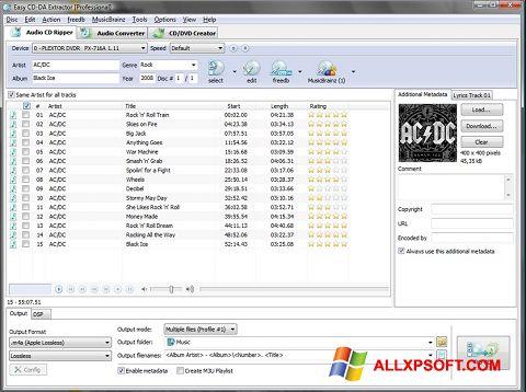 Screenshot Easy CD-DA Extractor for Windows XP