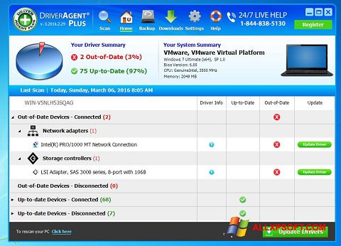 Screenshot DriverAgent for Windows XP