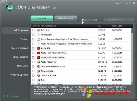 Screenshot IObit Uninstaller for Windows XP