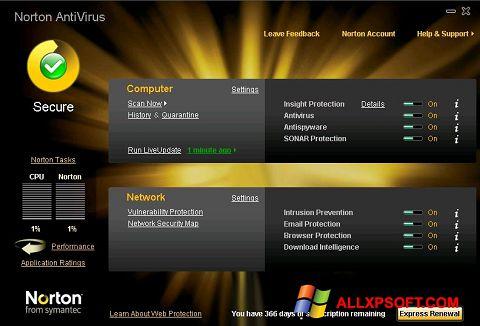 Screenshot Norton AntiVirus for Windows XP